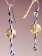 Click for details about Simple Rutilated Quartz Beads on Titanium Earrings